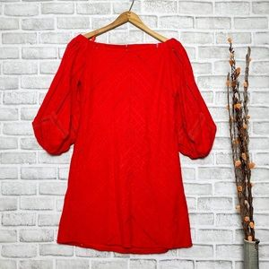 New York & Company off the Shoulder Red Dress